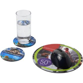 Q-Mat® driedelige combiset van muismat en onderzetter 5