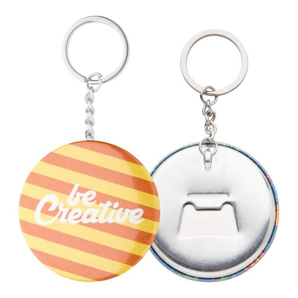 KeyBadge Bottle button sleutelhanger met pin