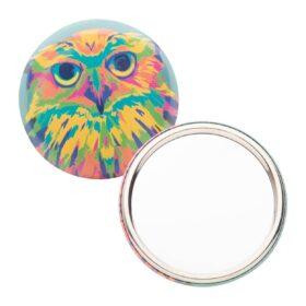 BeautyBadge button met pin en spiegel