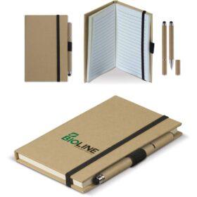 Notitieboek karton A6 + balpen stylus