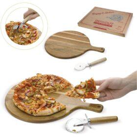 Pizza snijplank met snijder
