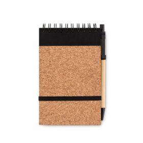 A5 kurk notitieboek met pen
