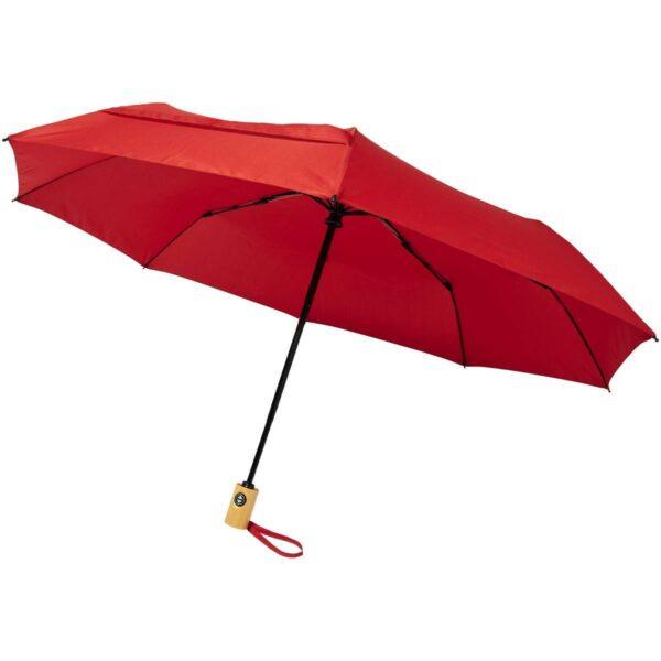 "Bo 21"" opvouwbare automatische gerecyclede PET paraplu"