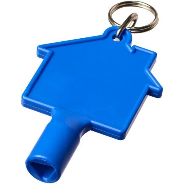 Maximilian huisvormige meterbox-sleutel met sleutelhanger