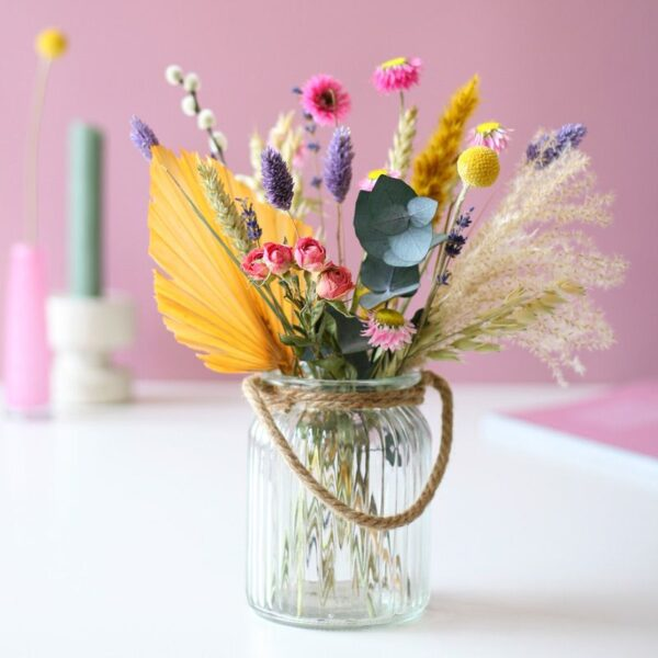 BloomPosy Pastel droogbloemen