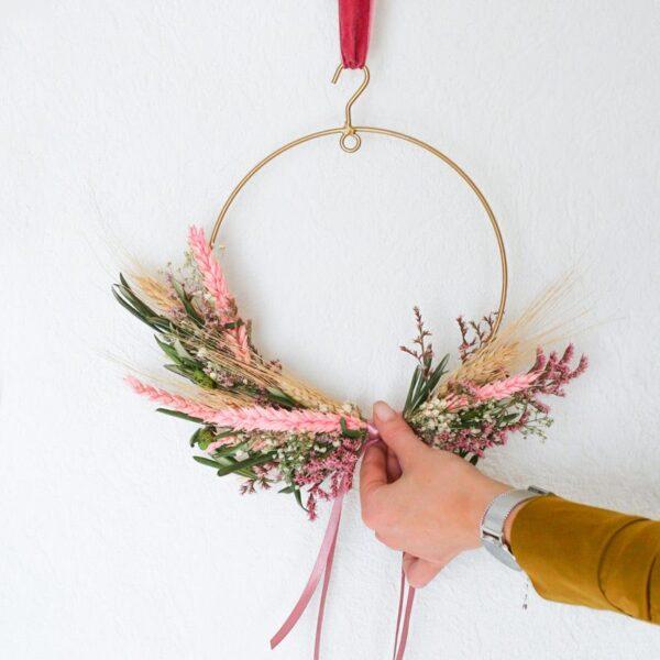 BloomRing Pink DIY droogbloemen