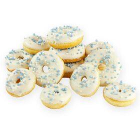 Donuts wit blauw