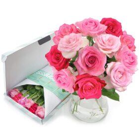 Pretty Pink brievenbusbloemen