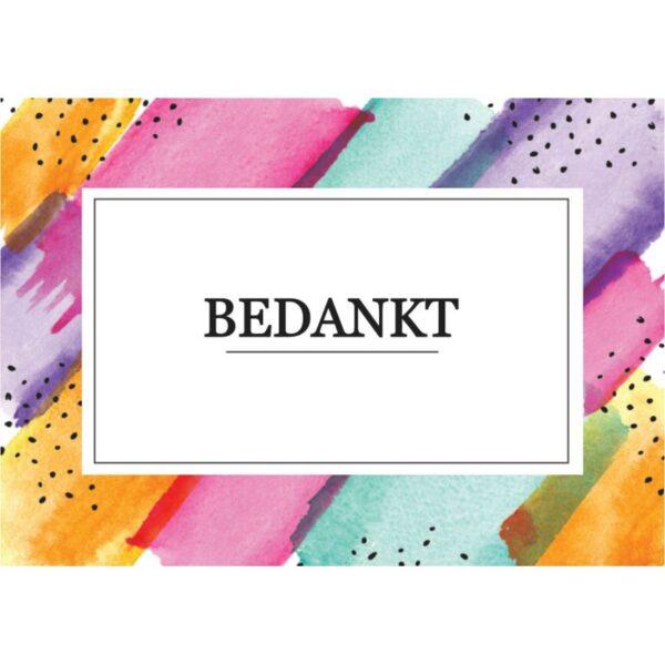 Wenskaart Bedankt 1